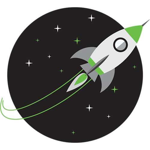 rocketship marketing icon