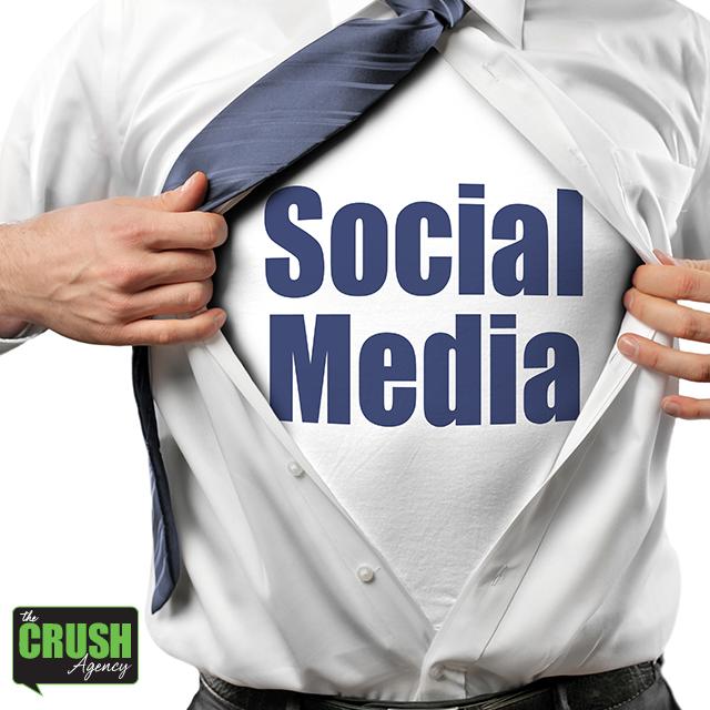 Social Media Platform Image on a T-shirt under a man's business dress shirt